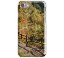 Broken Fence Rail on Quabbin Trail iPhone Case/Skin