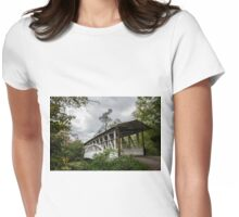 Covered Bridge in Bedford PA Womens Fitted T-Shirt