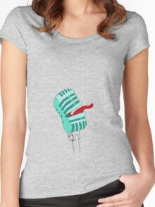 Screaming Microphone Women's Fitted Scoop T-Shirt