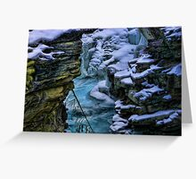 Maligne Canyon Greeting Card