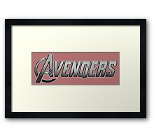 avengers movie comic book logo shirt Framed Print