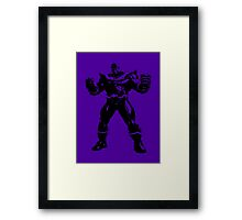 avengers thanos comic book shirt Framed Print