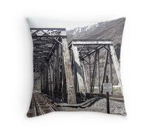 North Union Pacific Railway Bridge Throw Pillow