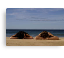 In Homage To Max Dupain - 'Sunbathers #1' Canvas Print
