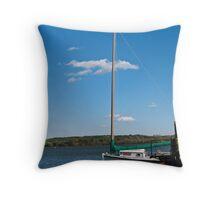 Docked on the Potomac  Throw Pillow