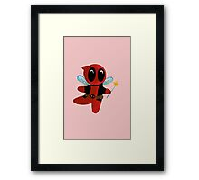Chibi DeadPool Fairy Framed Print