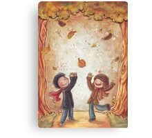 Catching Leaves Canvas Print