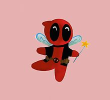 Chibi DeadPool Fairy by OhGodsAbove