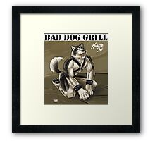 Bad Dog Grill Framed Print