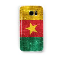 Vintage Aged and Scratched Cameroon Flag Samsung Galaxy Case/Skin