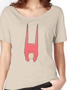 Vector illustration of little pink monster with long ears, fangs and a light belly. Women's Relaxed Fit T-Shirt
