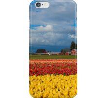 Red Barn Tulip Farm iPhone Case/Skin