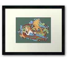 Gaia's Celtic Wave Framed Print
