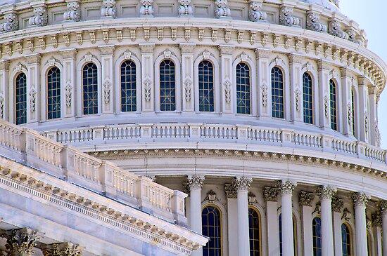 US Capitol Dome, Closeup by Paul Bohman
