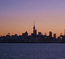 sunset over auckland by kona