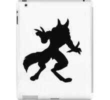 Silhouette of Werewolf iPad Case/Skin