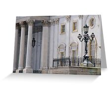 Capitol Lamppost and Columns  Greeting Card