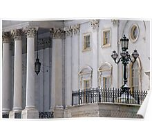 Capitol Lamppost and Columns  Poster