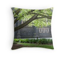 Under the Shady Trees Throw Pillow