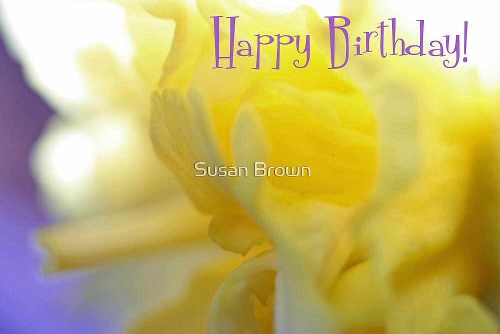 Happy Birthday - Ruffles Greeting Card by Susan Brown