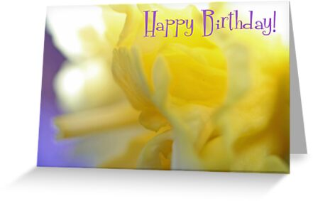 Happy Birthday - Ruffles Greeting Card by Susan Brown