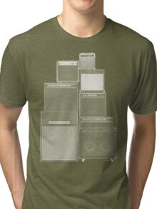 the great wall of LOUD : white ink edition Tri-blend T-Shirt