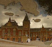 Reflections of Amsterdam - Central Station by AmsterSam