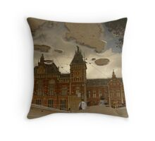 Reflections of Amsterdam - Central Station Throw Pillow