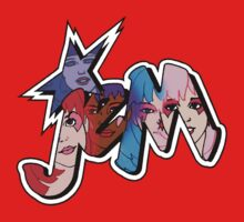 Jem and the Holograms - Logo - Group Color One Piece - Short Sleeve