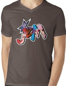 Jem and the Holograms - Logo - Group Color Mens V-Neck T-Shirt