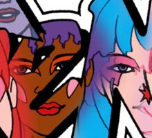 Jem and the Holograms - Logo - Group Color Sticker