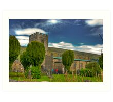 Dent Church - Dentdale. Art Print