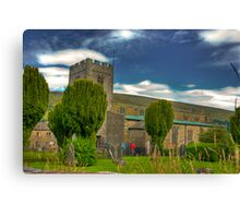 Dent Church - Dentdale. Canvas Print