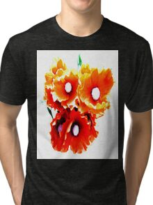 Red Poppies Tri-blend T-Shirt