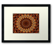 Brown Tan Gold Kaleidoscope Art 8 Framed Print