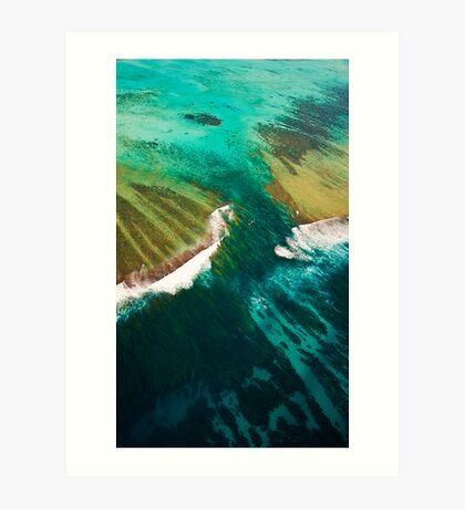 Turquoise Canyon - Ningaloo Reef Art Print