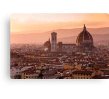 Florence skyline at sunset Canvas Print