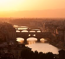 Florence skyline at sunset by Francesco Carucci
