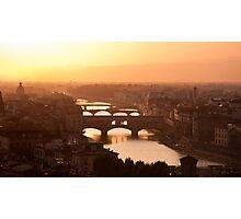 Florence skyline at sunset Photographic Print