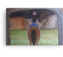 Fire Canyon Canvas Print