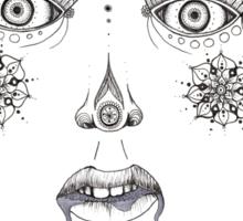 Third Eye Design Sticker