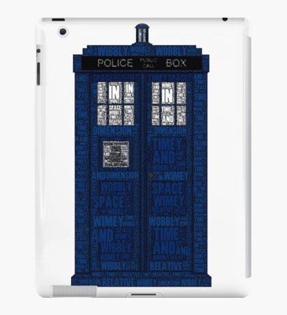 Doctor Who TARDIS Words Print iPad Case/Skin