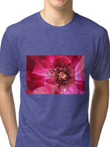 red flower  Tri-blend T-Shirt