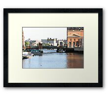 In The Middle Of Downtown Framed Print