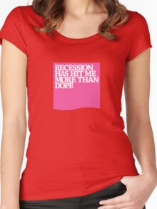 recession vs dope Women's Fitted Scoop T-Shirt