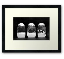 THE FOUNTAIN IN CENTRAL PARK Framed Print