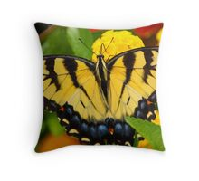 ButterFly On Flower 1 Throw Pillow
