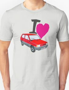 i love panda red Unisex T-Shirt