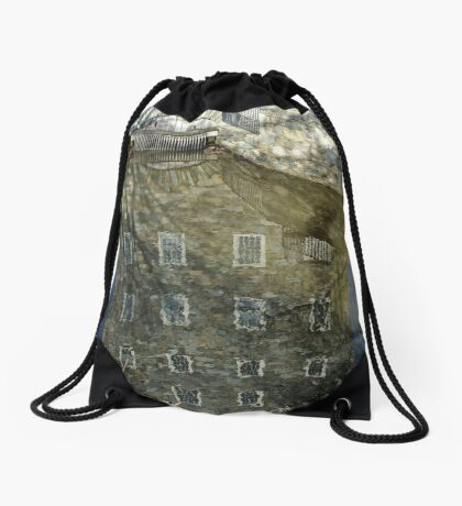 Reflections on the past Drawstring Bag
