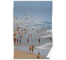 Crowded Day At Florida Beach Poster
